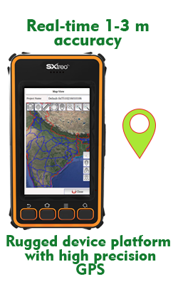 Mobile GIS Data Collector Handheld Made in India ORBIT